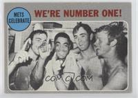 New York Mets Team, Tommie Agee, Nolan Ryan, Wayne Garrett, Ken Boswell [Good&n…