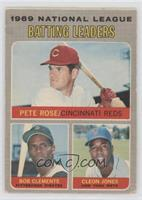 National League Batting Leaders (Pete Rose, Roberto Clemente, Cleon Jones) [Goo…