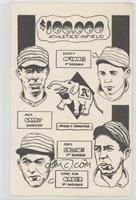 Stuffy McInnis, Jack Larry, Eddie Collins, Home Run Baker
