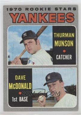 1970 Topps - [Base] #189 - 1970 Rookie Stars (Thurman Munson, Dave McDonald)