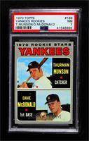 1970 Rookie Stars (Thurman Munson, Dave McDonald) [PSA7NM]