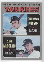 1970 Rookie Stars (Thurman Munson, Dave McDonald) [Poor to Fair]