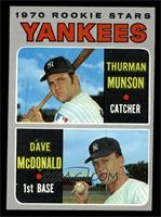1970 Rookie Stars (Thurman Munson, Dave McDonald) [EX MT]
