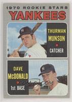 1970 Rookie Stars - Thurman Munson, Dave McDonald [PoortoFair]