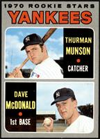 1970 Rookie Stars - Thurman Munson, Dave McDonald [NM]