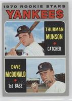 1970 Rookie Stars - Thurman Munson, Dave McDonald [Good to VG‑E…