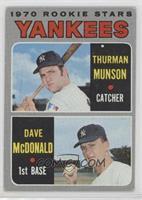 1970 Rookie Stars - Thurman Munson, Dave McDonald [GoodtoVG‑E…