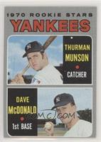 1970 Rookie Stars - Thurman Munson, Dave McDonald