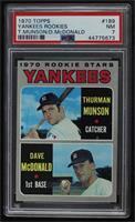 1970 Rookie Stars - Thurman Munson, Dave McDonald [PSA7NM]