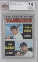 Thurman Munson, Dave McDonald [BVG 7.5 NEAR MINT+]