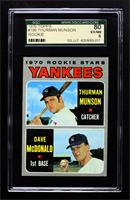 Thurman Munson, Dave McDonald [SGC 80 EX/NM 6]