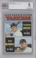 Thurman Munson, Dave McDonald [BVG 6 EX‑MT]