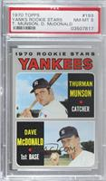 Thurman Munson, Dave McDonald [PSA 8 NM‑MT]
