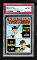 Thurman Munson, Dave McDonald [PSA 6 EX‑MT]