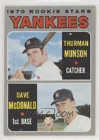 Thurman Munson, Dave McDonald [GoodtoVG‑EX]