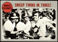 Orioles Celebrate - Sweep Twins In Three! [VG+]