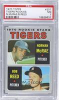 Tigers Rookie Stars (Norm McRae, Bob Reed) [PSA7]