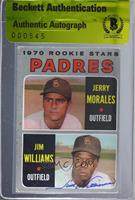 1970 Rookie Stars - Jerry Morales, Jim Williams [BASCertifiedBGS&nb…