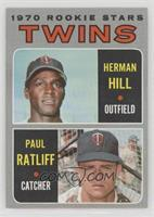 1970 Rookie Stars - Herman Hill, Paul Ratliff