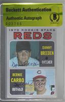 1970 Rookie Stars - Danny Breeden, Bernie Carbo [BASCertifiedBAS&nb…