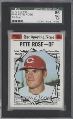 1970 Topps - [Base] #458 - Pete Rose [SGC86]