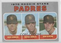 1970 Rookie Stars - Mike Corkins, Rafael Robles, Ron Slocum