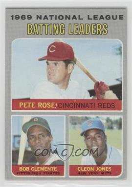 1970 Topps - [Base] #61 - National League Batting Leaders (Pete Rose, Roberto Clemente, Cleon Jones)