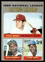 National League Batting Leaders (Pete Rose, Roberto Clemente, Cleon Jones) [VG&…