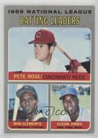 National League Batting Leaders (Pete Rose, Roberto Clemente, Cleon Jones) [Goo…