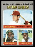 National League Batting Leaders (Pete Rose, Roberto Clemente, Cleon Jones) [EX&…