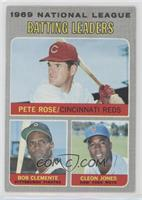 National League Batting Leaders (Pete Rose, Roberto Clemente, Cleon Jones) [Poo…