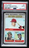 Pete Rose, Roberto Clemente, Cleon Jones [PSA 2 GOOD]