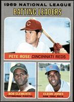 Pete Rose, Roberto Clemente, Cleon Jones [EXMT+]