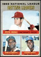 Pete Rose, Roberto Clemente, Cleon Jones [VG EX]
