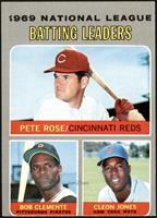 Pete Rose, Roberto Clemente, Cleon Jones [GOOD]