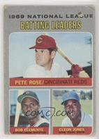 Pete Rose, Roberto Clemente, Cleon Jones [Poor to Fair]