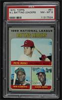 Pete Rose, Roberto Clemente, Cleon Jones [PSA 8 NM‑MT]