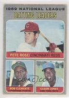 Pete Rose, Roberto Clemente, Cleon Jones [EX to NM]