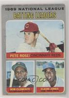 Pete Rose, Roberto Clemente, Cleon Jones [Poor]