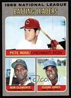 Pete Rose, Roberto Clemente, Cleon Jones [VG]