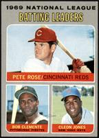Pete Rose, Roberto Clemente, Cleon Jones [EX]