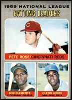 Pete Rose, Roberto Clemente, Cleon Jones [EX MT]