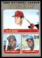 Pete Rose, Roberto Clemente, Cleon Jones [EXMT]