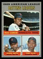 American League Batting Leaders (Rod Carew, Reggie Smith, Tony Oliva) [NM…