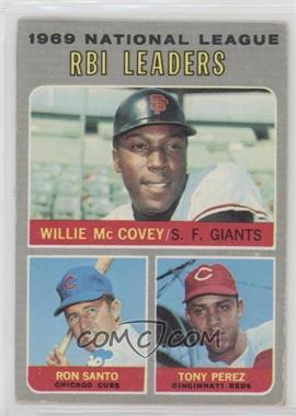 1970 Topps - [Base] #63 - National League RBI Leaders (Willie McCovey, Ron Santo, Tony Perez) [PoortoFair]