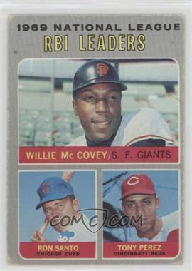 1970 Topps - [Base] #63 - National League RBI Leaders (Willie McCovey, Ron Santo, Tony Perez) [GoodtoVG‑EX]