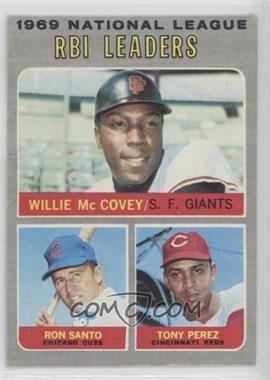 1970 Topps - [Base] #63 - Willie McCovey, Ron Santo, Tony Perez [PoortoFair]