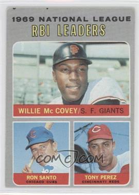 1970 Topps - [Base] #63 - Willie McCovey, Ron Santo, Tony Perez [GoodtoVG‑EX]