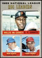 Willie McCovey, Ron Santo, Tony Perez [NM+]