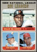 Willie McCovey, Ron Santo, Tony Perez [EXMT]